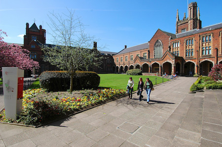 QUB Quad in the summer