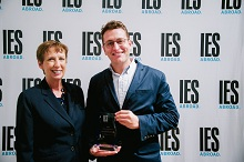 Dr. Mary Dwyer, CEO and President of IES Abroad with IES Abroad Professional Development Award winner,Taylor Woodman