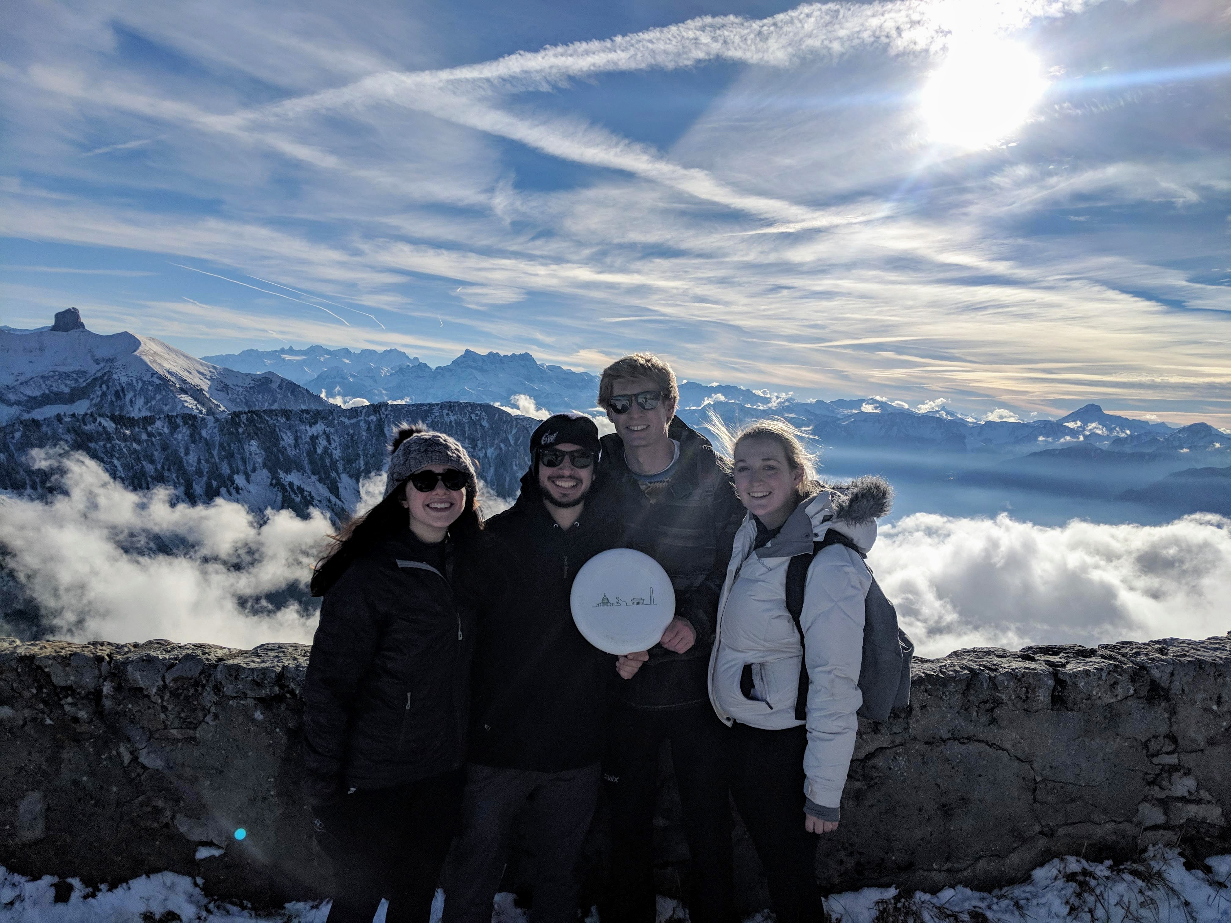 GW Students in the Swiss Alps