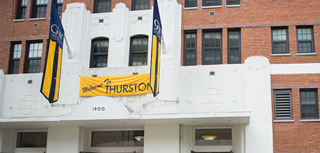 Front of Thurson Hall.