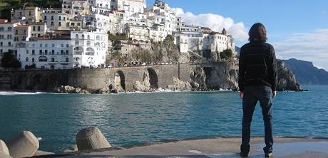 Person with Greece Cliffside