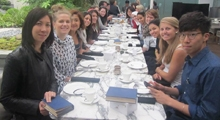 Students at Tea Time in London!