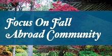 Focus on Fall Abroad Community Logo