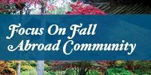 Focus on Fall Abroad Community Logo