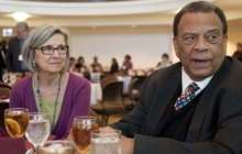 Associate Provost Donna Scarboro with Ambassador Andrew Young
