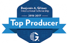 Office for Study Abroad recognized as a top producer of Gilman Scholarship awardees
