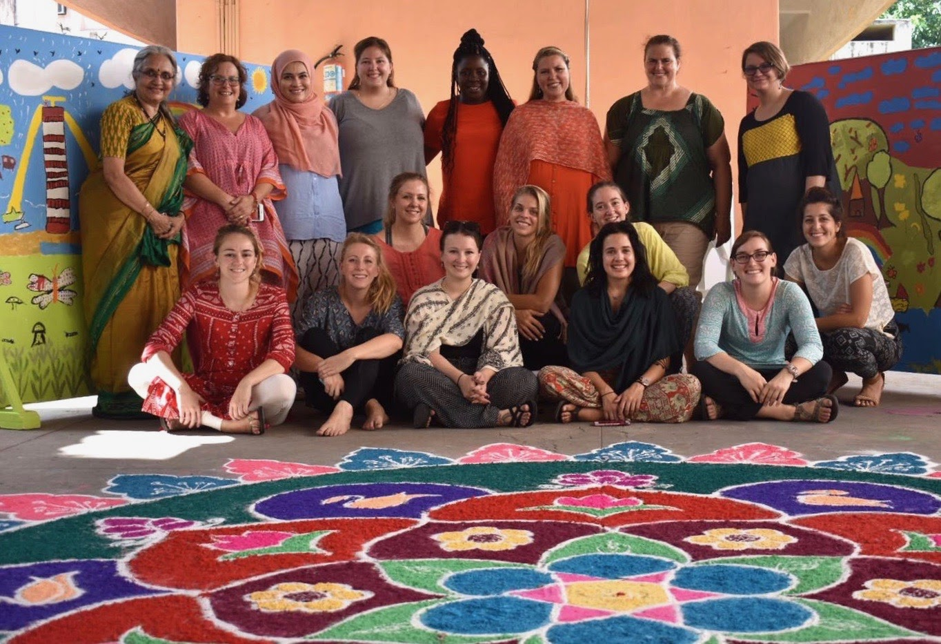 GW students on the International Art Therapy short term abroad program in India.