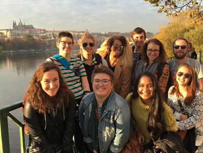 GW students in Prague, Czech Republic.