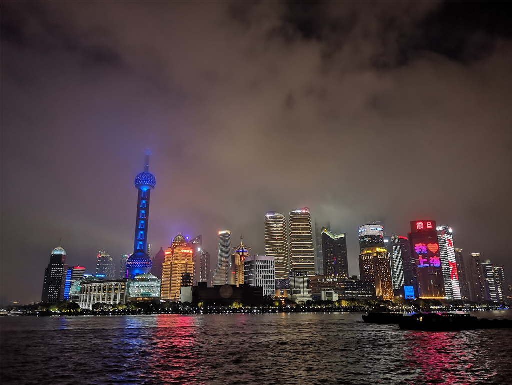 The Bund waterfront area in Shanghai.